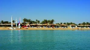 Private beach nearby, free beach shuttle, sun loungers, beach umbrellas