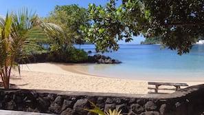 On the beach, white sand, snorkeling, kayaking