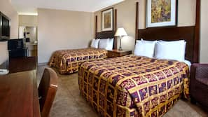 Blackout curtains, rollaway beds, free WiFi, linens