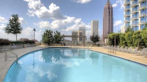 Seasonal outdoor pool, open 7:00 AM to 10:00 PM, free pool cabanas