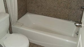 Combined shower/tub, hair dryer