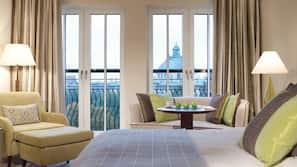 Premium bedding, down duvet, pillow top beds, minibar