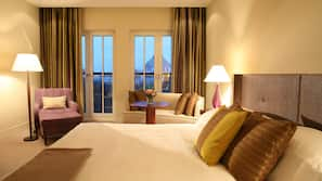 Premium bedding, down duvets, pillow-top beds, minibar