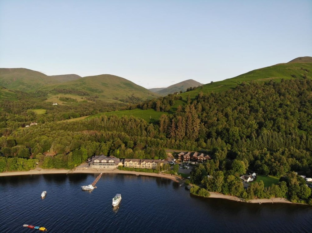 Aerial View, Lodge on Loch Lomond Hotel