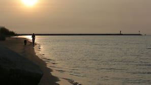 Private beach, white sand, scuba diving, fishing