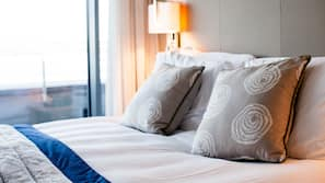 Egyptian cotton sheets, premium bedding, in-room safe, blackout curtains