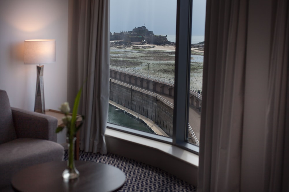 View from Room, Radisson Blu Waterfront Hotel, Jersey