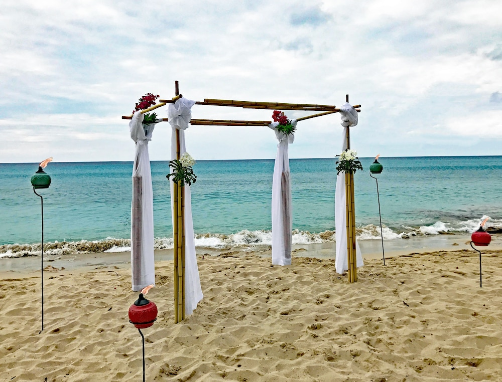 Outdoor Wedding Area, Sand Castle on the Beach - Adults Only