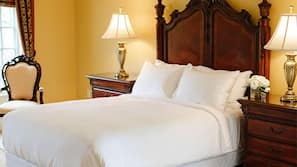 Frette Italian sheets, premium bedding, pillowtop beds, in-room safe