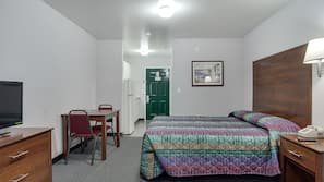 Blackout drapes, iron/ironing board, free WiFi, bed sheets