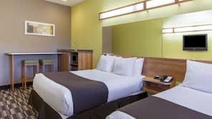 Premium bedding, pillowtop beds, desk, iron/ironing board