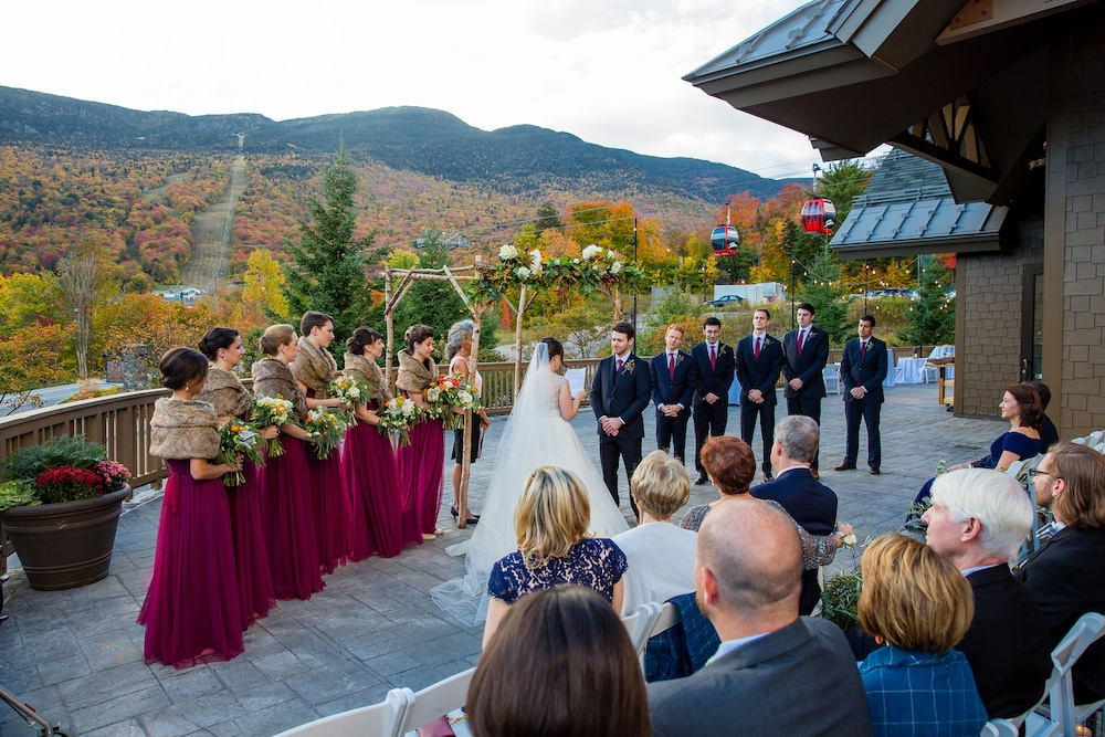 Outdoor Wedding Area, The Lodge at Spruce Peak