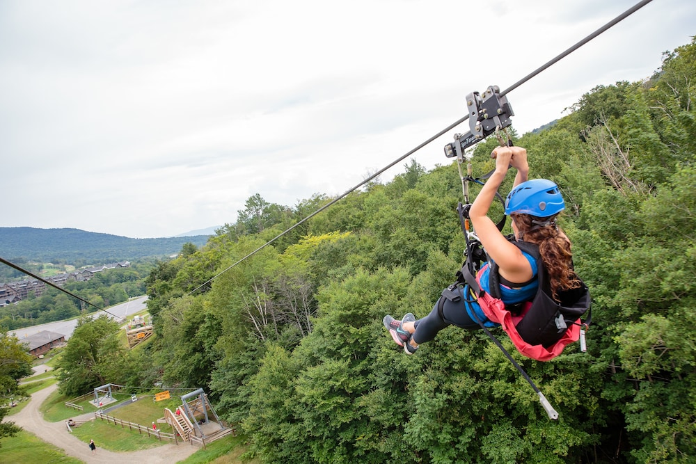 Ziplining, The Lodge at Spruce Peak