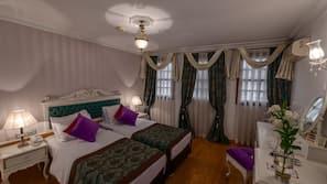 Down duvet, minibar, in-room safe, blackout curtains