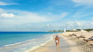 전용 해변, 백사장, 일광욕 의자, 비치 타월