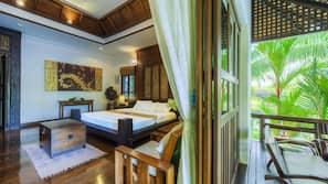1 間臥室、房內夾萬、設計自成一格、家具佈置各有特色