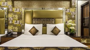 Memory foam beds, minibar, in-room safe, individually decorated