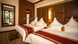 Roupas de cama antialérgicas, edredons de pluma, frigobar