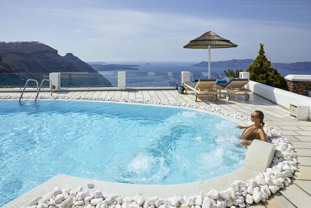 Outdoor Spa Tub, Santorini Princess Luxury Spa Hotel