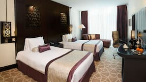 Select Comfort beds, minibar, in-room safe, individually decorated