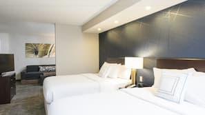 1 slaapkamer, luxe beddengoed, donzen dekbedden, pillowtop-bedden