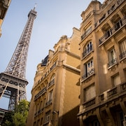 Perfect for 4! Elegant-eiffel Views-ac-free Wifi-left Bank-restaurant Shops