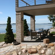 The Lake House at Cedar Point - Beautiful Waterfront Home - Private Sandy Beach!