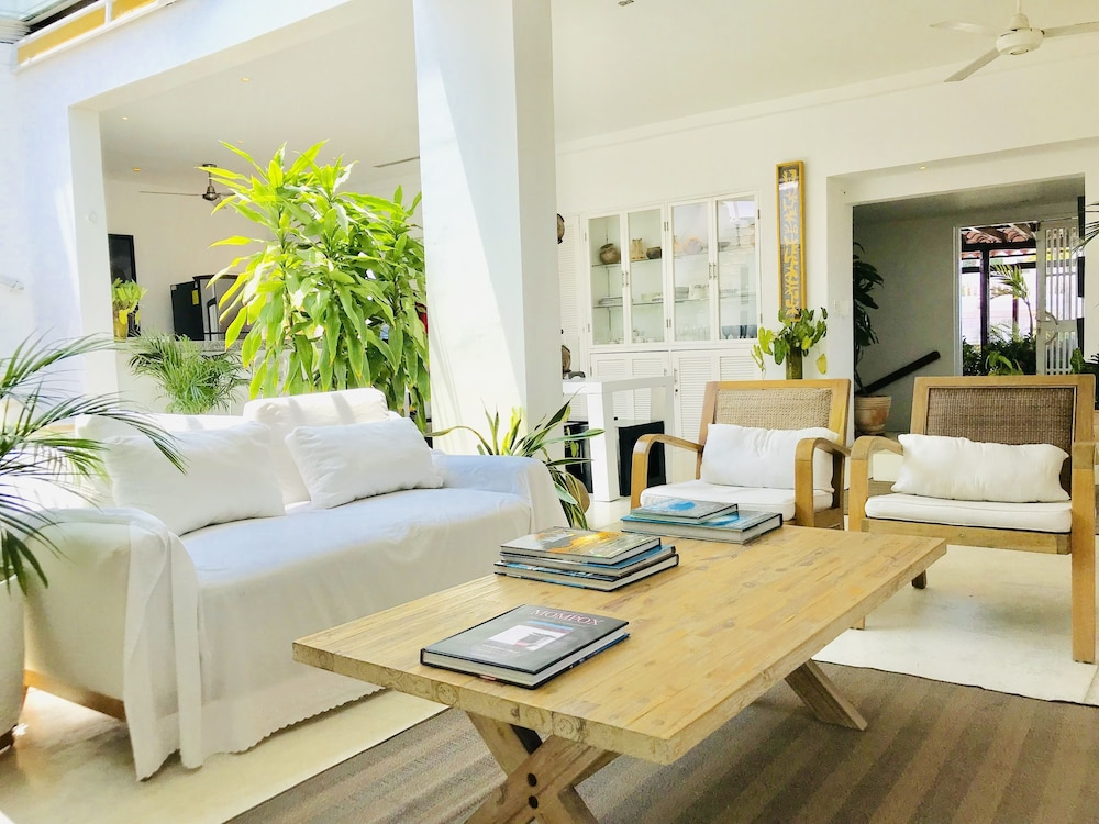 Living Room, LUX Private Pool Penthouse Facing THE Caribbean IN OLD Historic Town!