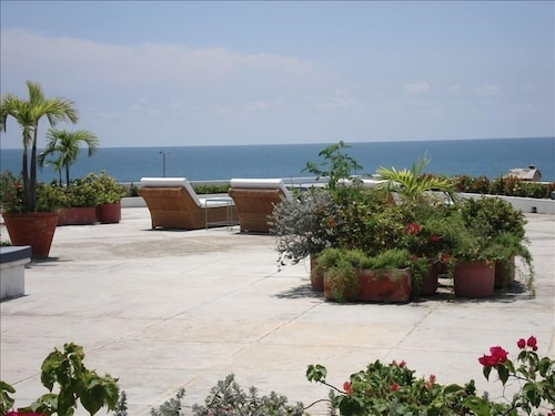 Terrace/Patio, LUX Private Pool Penthouse Facing THE Caribbean IN OLD Historic Town!