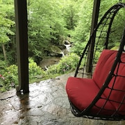 Watch Video - Waterfall! HOT Tub! Watauga River! Wifi! Skiiing! Near Boone
