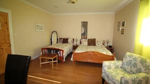 Desk, soundproofing, iron/ironing board, rollaway beds