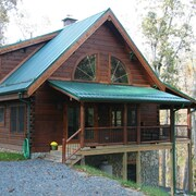 New Custom Log Home on New River Ridge