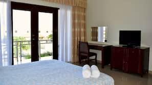 2 Schlafzimmer, Zimmersafe, Bügeleisen/Bügelbrett