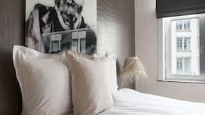 1 slaapkamer, luxe beddengoed, een strijkplank/strijkijzer