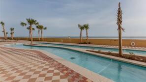 Indoor pool, outdoor pool