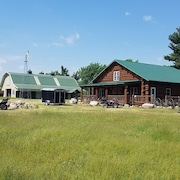 Gorgeous Log Home on Rum River With Over 60 Acres. Same Owner as #488893