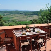 IN Town! Large Terraces & Views of Vineyards & Olive Groves - Walk to Center!