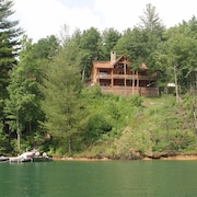 Lakefront With Dock, Mountain Views, Fire Pit, Private Cove FOR Swimming