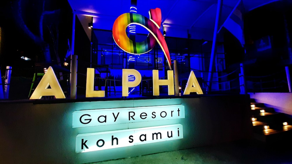 Front of Property - Evening/Night, Alpha Gay Resort & Spa - Caters to Gay Men