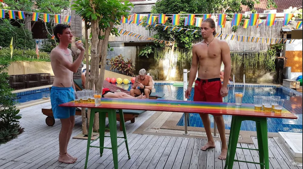 Outdoor Pool, Alpha Gay Resort & Spa - Caters to Gay Men