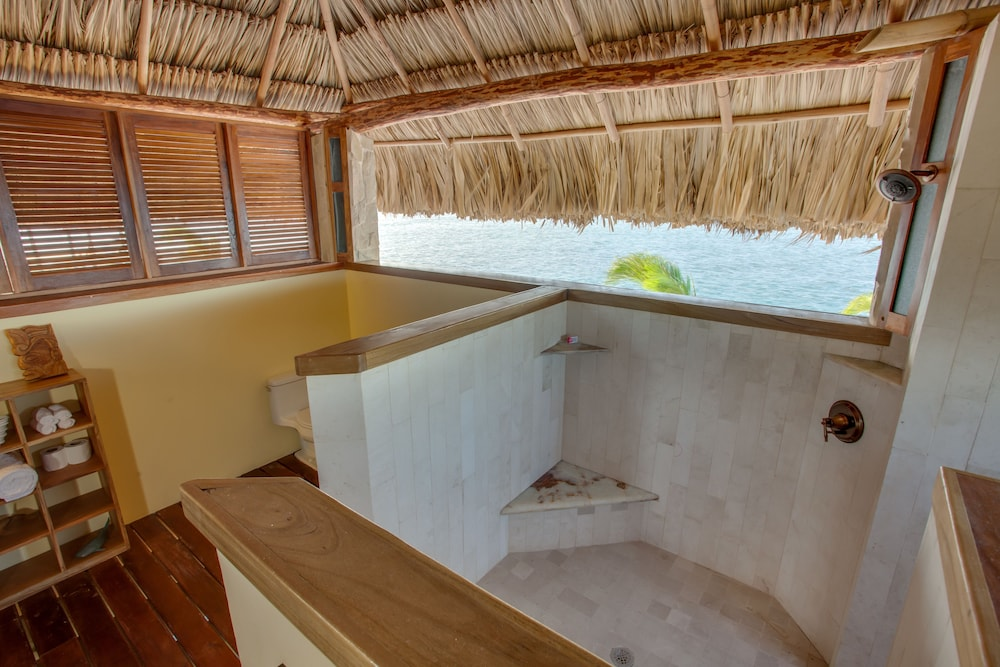 Bathroom, Little Harvest Caye- Private Island