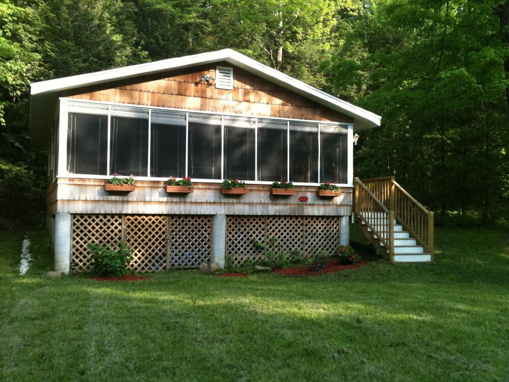 Property Grounds, Quiet Comfortable Cabin 5 Min. Walk to Swimming and Boating