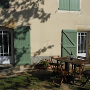 Green Shutters Gite In SW France. Village Location. Heated Swimming Pool