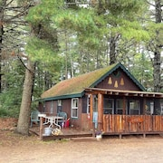 Boulder Junction Cabins on Fishtrap Lake. Canoe, Kayak and Fishing Paradise!