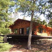 Boundary Waters Log Cabin on Mcfarland Lake Bwca ~ Pontoon Sauna Canoe Fire Ring