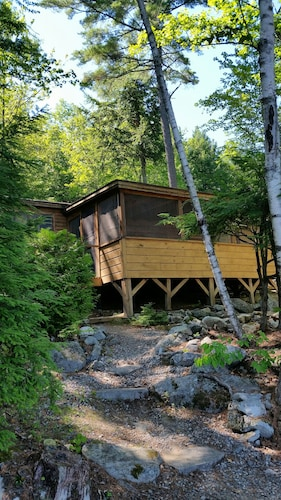 Great Place to stay Cabin on Long Pond, Just Steps to Lake near Mt Vernon