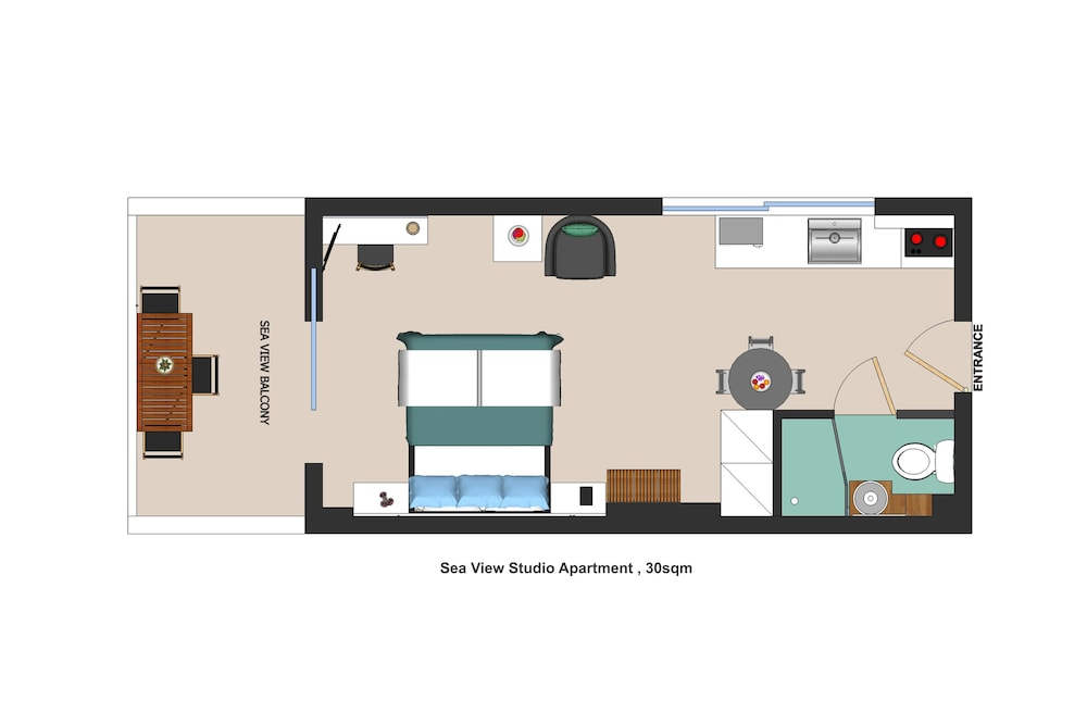 Floor plan, Meli Apartments & Villas