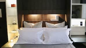 Egyptian cotton sheets, premium bedding, memory foam beds, in-room safe