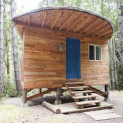 Off-grid Half Moon Small Cabin