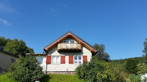 Cabin in the Thuringian Forest With Stunning Views, Right on Goethewanderweg